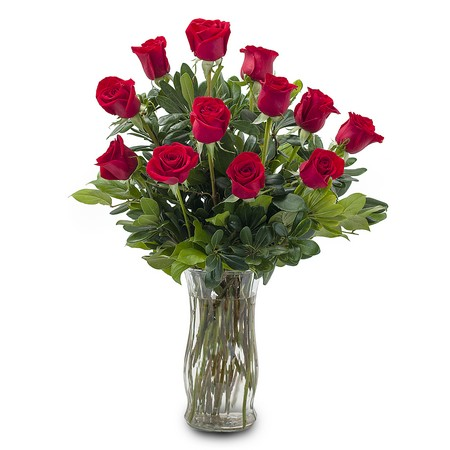 12 Red Roses from Walker's Flower Shop in Huron, SD