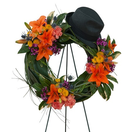 The Good Times Wreath from Walker's Flower Shop in Huron, SD